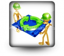 Green Construction Building PowerPoint Icon S