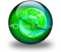 Green Earth PowerPoint Icon C