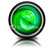 Green Earth PowerPoint Icon Cc
