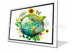 Green Nature Earth PowerPoint Icon F