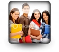 Group Of Students PowerPoint Icon S