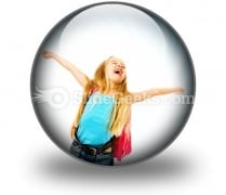 Happy Young Girl Ppt Icon For Ppt Templates And Slides C