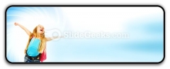 Happy Young Girl Ppt Icon For Ppt Templates And Slides R