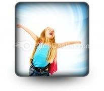 Happy Young Girl Ppt Icon For Ppt Templates And Slides S