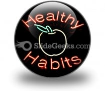 Healthy Habits PowerPoint Icon C