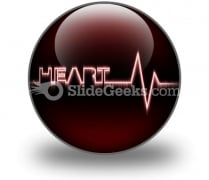 Heart Beat PowerPoint Icon C