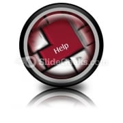 Help Keyboard PowerPoint Icon