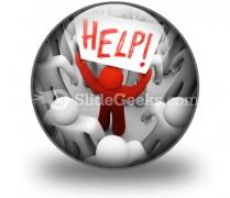Help PowerPoint Icon C