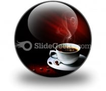 Hot Coffee PowerPoint Icon C