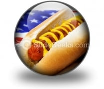 Hot Dog Flag PowerPoint Icon C