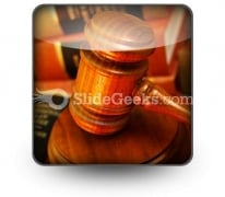 Law PowerPoint Icon S