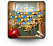 Little Golden Students PowerPoint Icon S