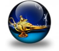 Magic Lamp PowerPoint Icon C