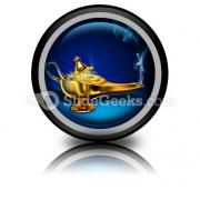 Magic Lamp PowerPoint Icon Cc