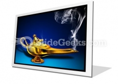 Magic Lamp PowerPoint Icon F