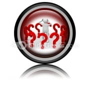 Man With Question PowerPoint Icon Cc