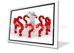 Man With Question PowerPoint Icon F