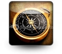 Map Compass PowerPoint Icon S