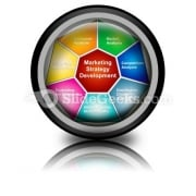 Marketing Strategies Development PowerPoint Icon Cc