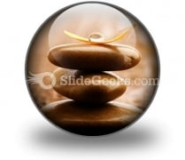 Massage Stones PowerPoint Icon C