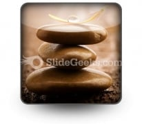 Massage Stones PowerPoint Icon S