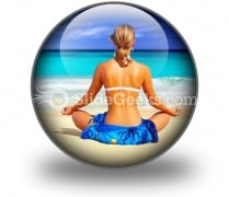 Meditating On Sea PowerPoint Icon C