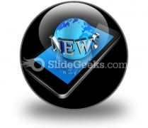 Mobile Phone And News World Ppt Icon For Ppt Templates And Slides C