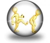 Motivational Kick Up The Ass Business PowerPoint Icon C