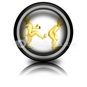 Motivational Kick Up The Ass Business PowerPoint Icon Cc