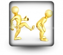 Motivational Kick Up The Ass Business PowerPoint Icon S