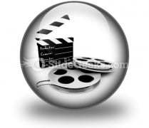 Movie Objects Clipper PowerPoint Icon C
