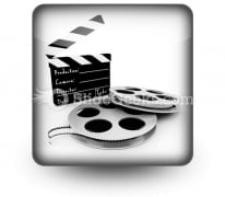 Movie Objects Clipper PowerPoint Icon S