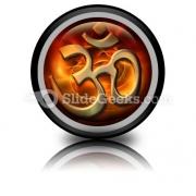 Om Religion PowerPoint Icon Cc