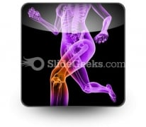 Pain In Knee PowerPoint Icon S