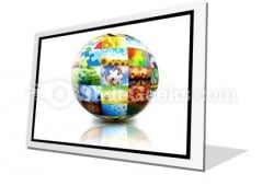 Picture Photo Gallery Ball PowerPoint Icon F