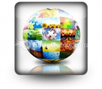 Picture Photo Gallery Ball PowerPoint Icon S