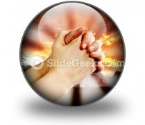 Prayer Warrior PowerPoint Icon C