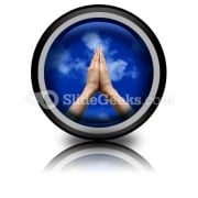 Praying Hands PowerPoint Icon Cc