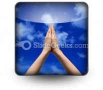 Praying Hands PowerPoint Icon S