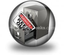 Private Database Security PowerPoint Icon C