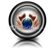 Protect The Earth Ppt Icon For Ppt Templates And Slides Cc
