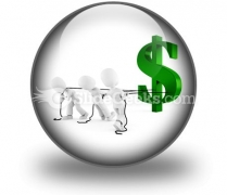 Pulling Dollar Symbol PowerPoint Icon C