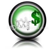 Pulling Dollar Symbol PowerPoint Icon Cc