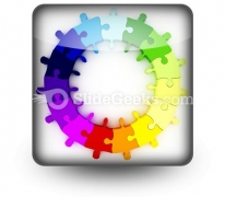 Puzzle Chart Wheel PowerPoint Icon S