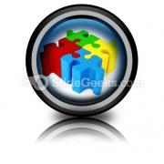 Puzzle ConnectedPowerPoint Icon Cc