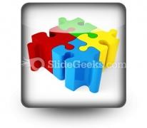 Puzzle ConnectedPowerPoint Icon S