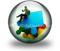 Puzzle Pieces Business PowerPoint Icon C