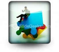 Puzzle Pieces Business PowerPoint Icon S