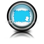 Puzzle Pieces Frame PowerPoint Icon Cc