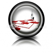 Red Diagram Chart PowerPoint Icon Cc